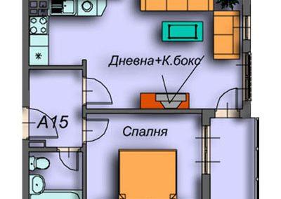 """""""Поларис Ин"""" – Банско, Апартамент A15"""