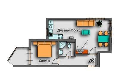 """Поларис Ин"" – Банско, Апартамент B9"