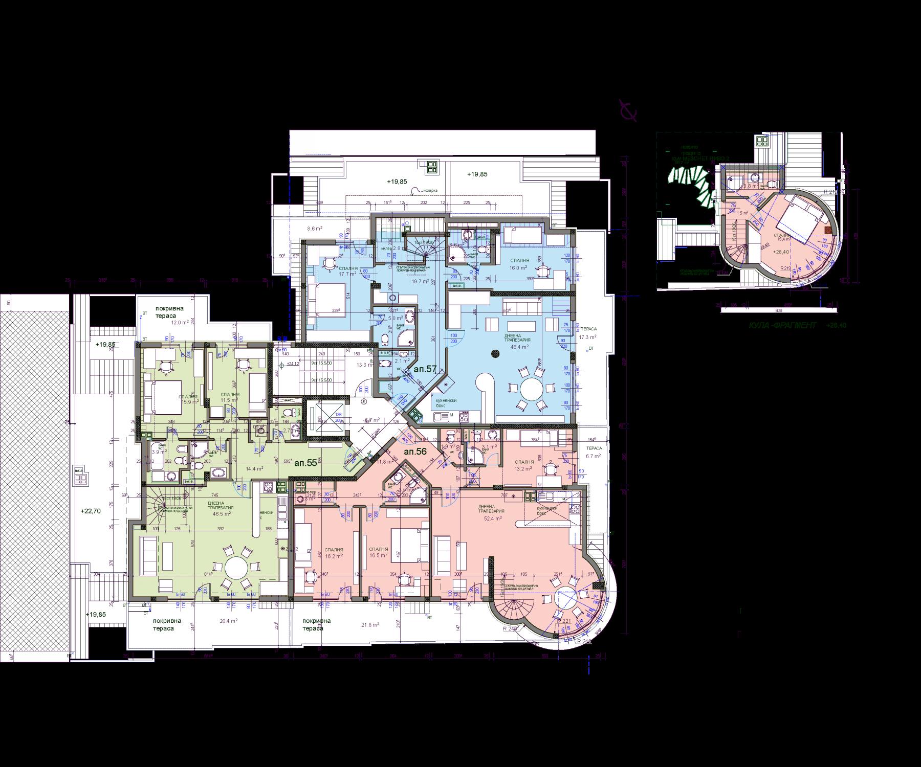 Обект ТОПЛИ ДОЛ 8 – Подпокривен Етаж 2